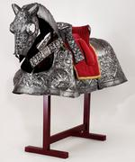 Thumbnail image of Horse Armour - Burgundian bard Of King Henry VIII, by Guillem Margot, decorated by Paul van Vreland, presented by Maximilian I, known as the Burgundian bard