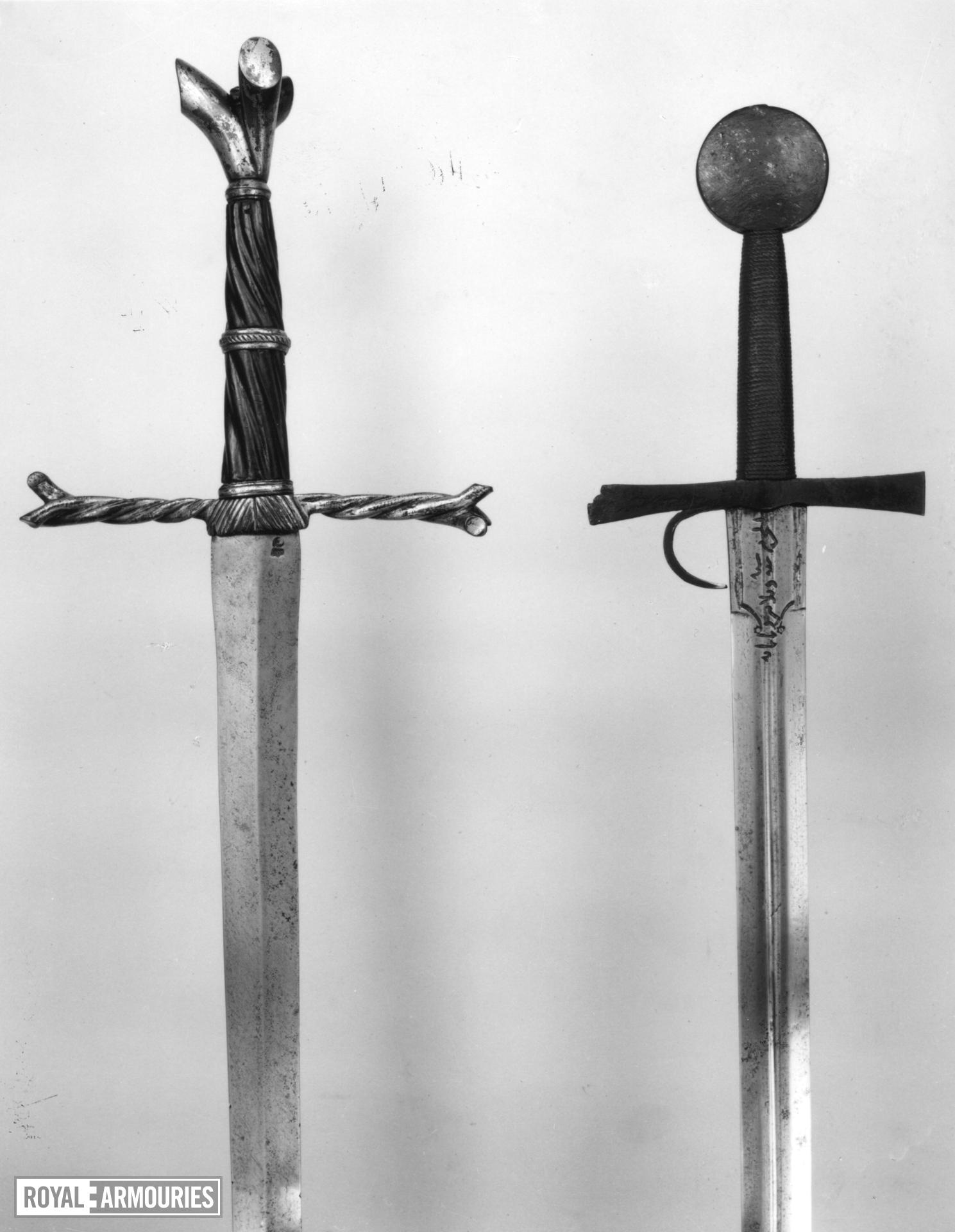 Sword - Writhen Hilted Sword Sword of Oakeshott type XVIIIa (1981); type XVIII or XVIIIa (1991)