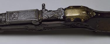 Thumbnail image of Matchlock breech-loading gun Matchlock breech-loading gun for Henry VIII, by Master WH.