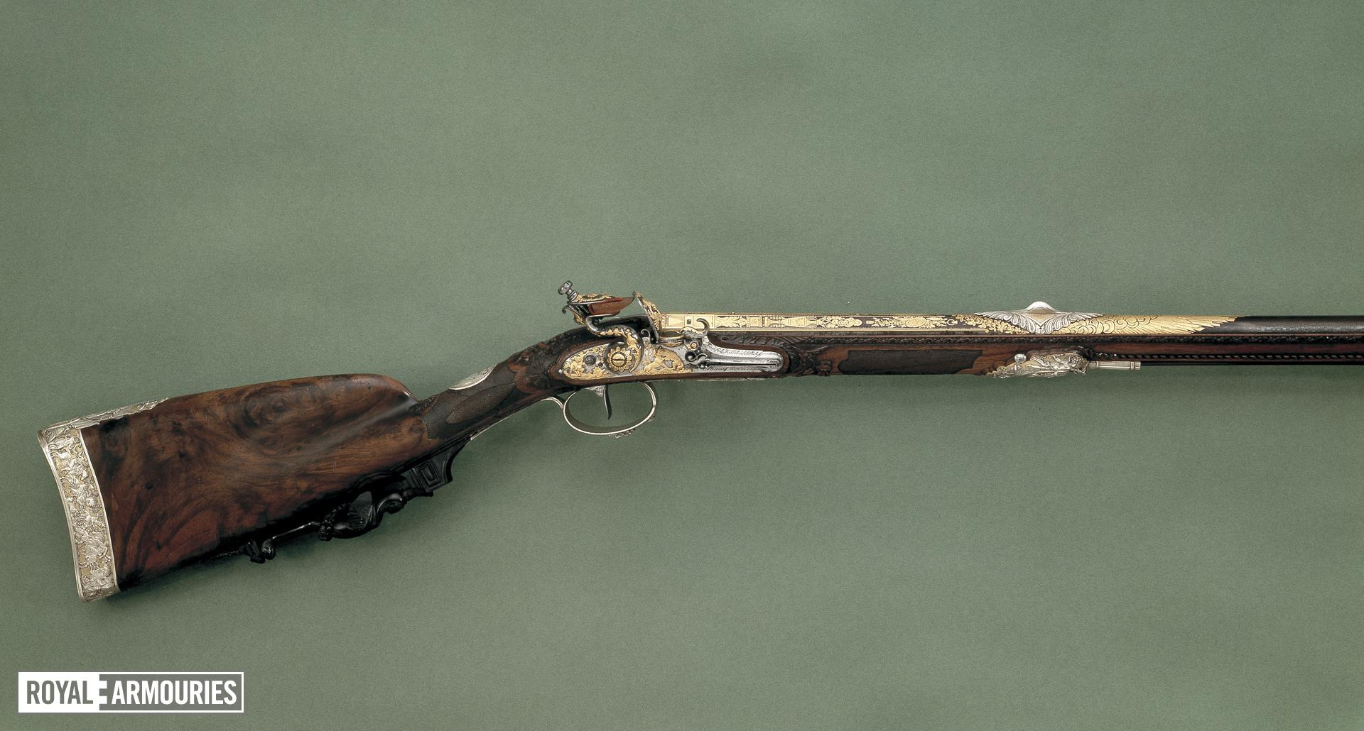 Flintlock muzzleloading gun - By Nicholas Noel Boutet Of exceptional quality.