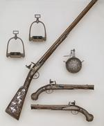 Thumbnail image of Flintlock sporting gun - part of the Tula Garniture Flintlock sporting gun made for Empress Elizabeth of Russia at Tula