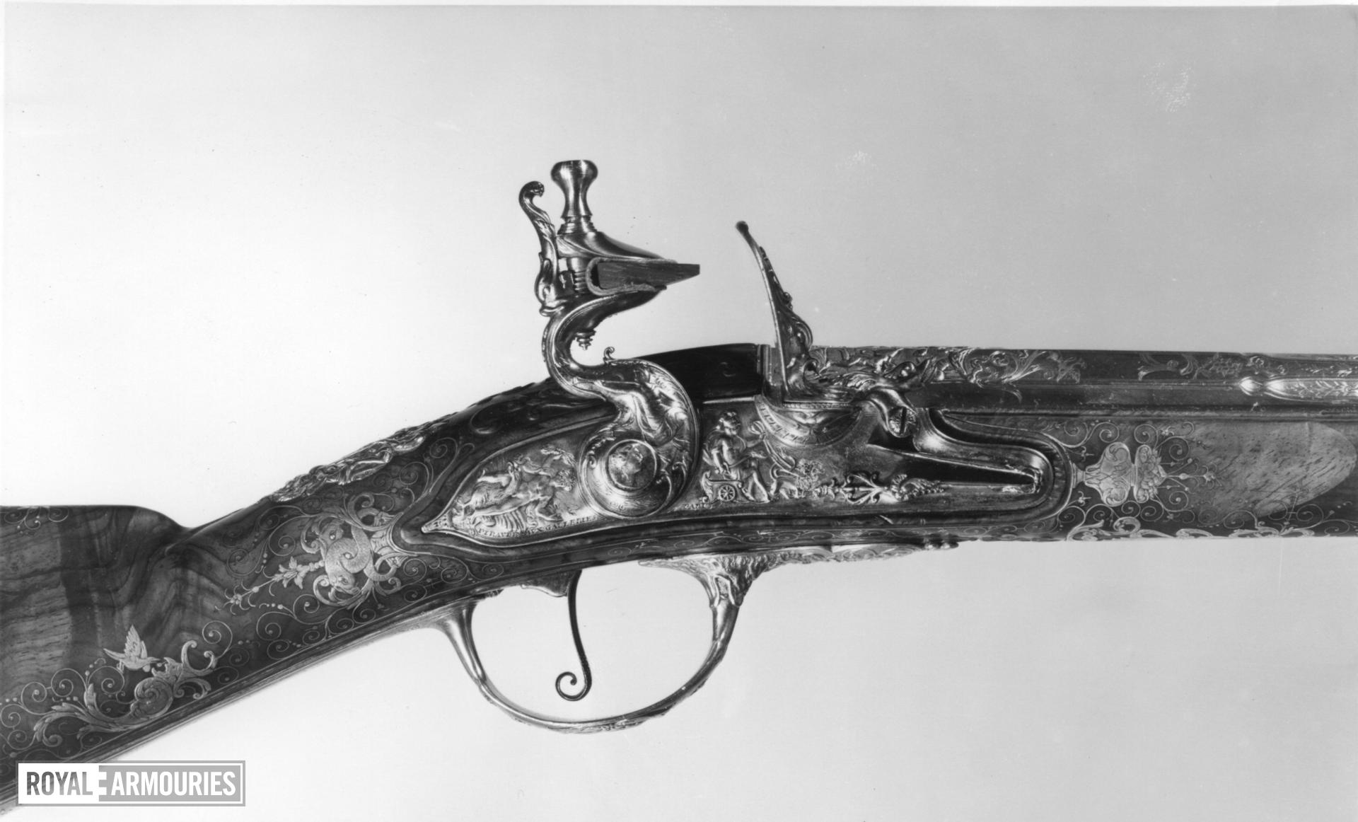 Flintlock muzzle-loading sporting gun - By Bertrand Piraube Of fine quality