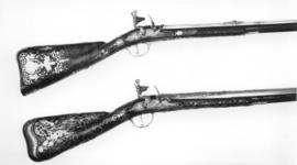 Thumbnail image of Flintlock muzzle-loading sporting gun - By Bertrand Piraube Of fine quality
