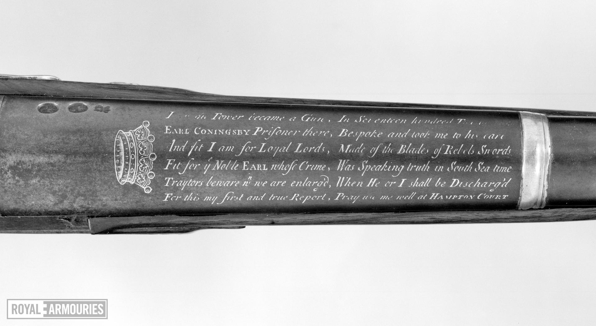 Flintlock sporting gun - By William Mills Made for Thomas, 1st Earl Coningsby.
