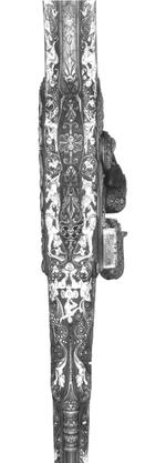Thumbnail image of Flintlock holster pistol By Peter Monlong, (one of a pair, See XII.3830)