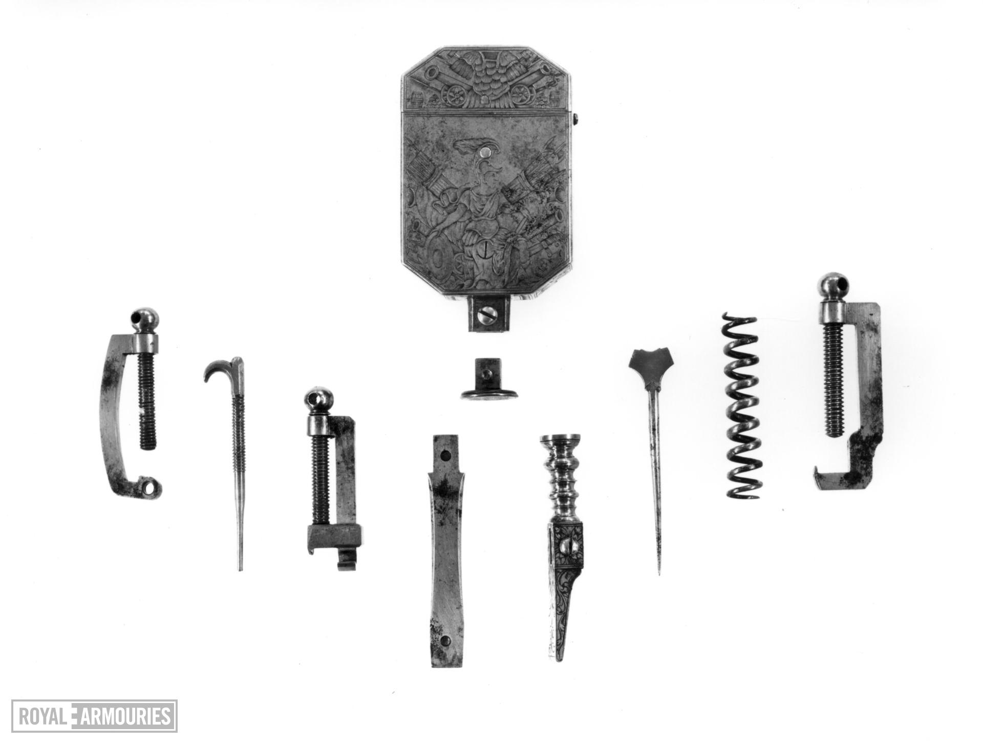 Pocket set of gunmakers tools By Andrew Dolep For the Grand Duke of Tuscany