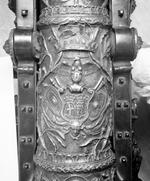 Thumbnail image of 2 pr gun and carriage Made of bronze Cast by Alberghetti Carriage contemporary