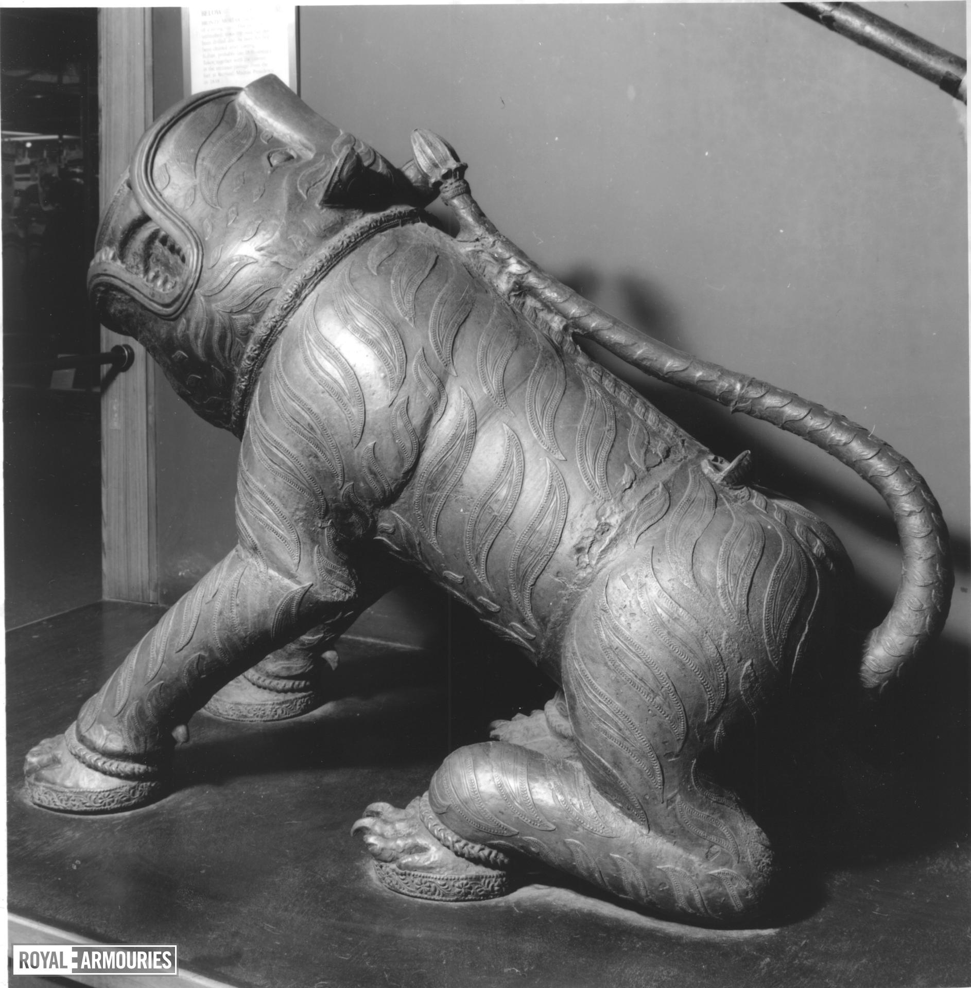 Gun - Mortar Cast in the form of a sitting tiger.