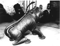Thumbnail image of Gun - Mortar Cast in the form of a sitting tiger.