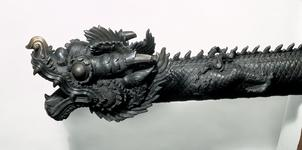 Thumbnail image of Cannon - Dragon cannon Bronze cannon in the form of a dragon. - 3.7 in.