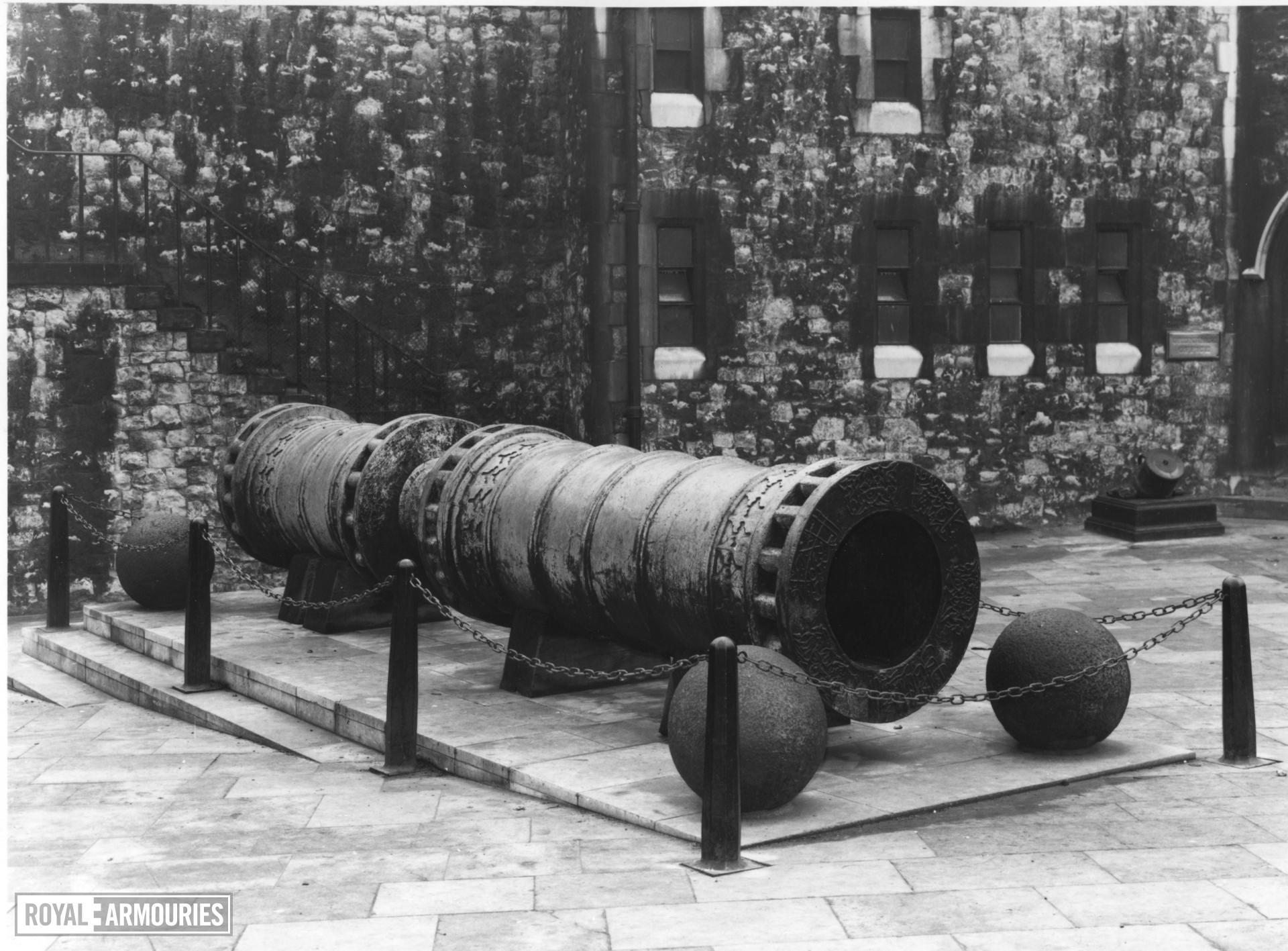 Gun - The Great Turkish Bombard Great bronze gun also known as the 'Dardanelles gun'.