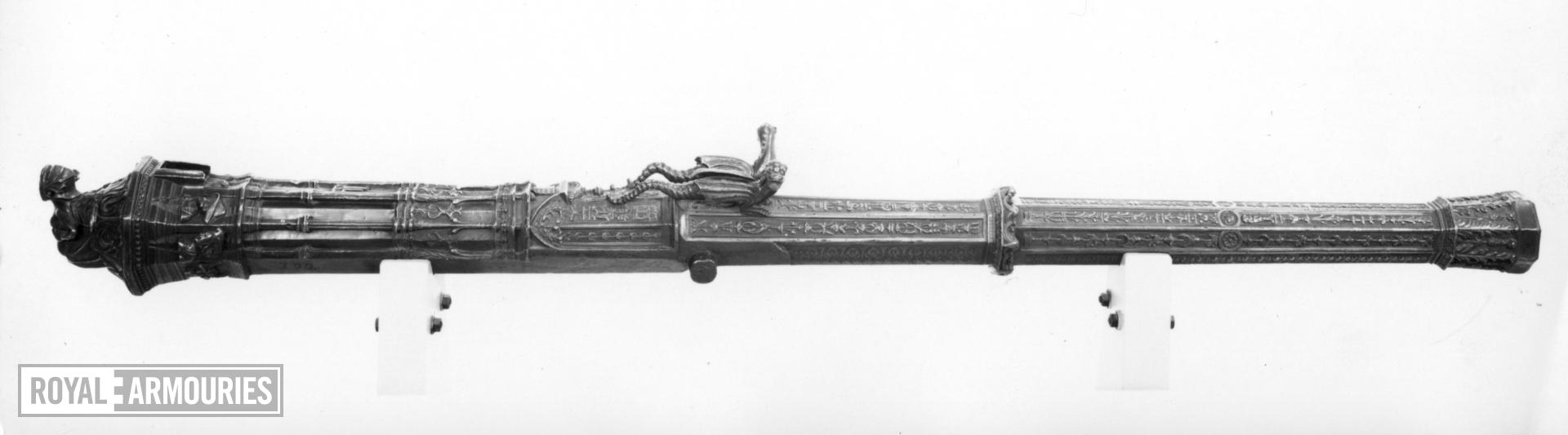 1.7 in gun Made of bronze Cast by Maistre Denis