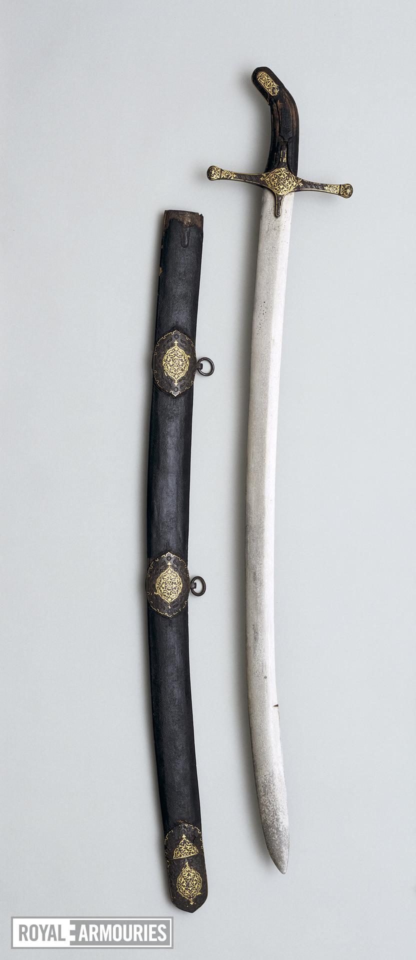 Sword (kilic) blade probably Syrian, about 1500