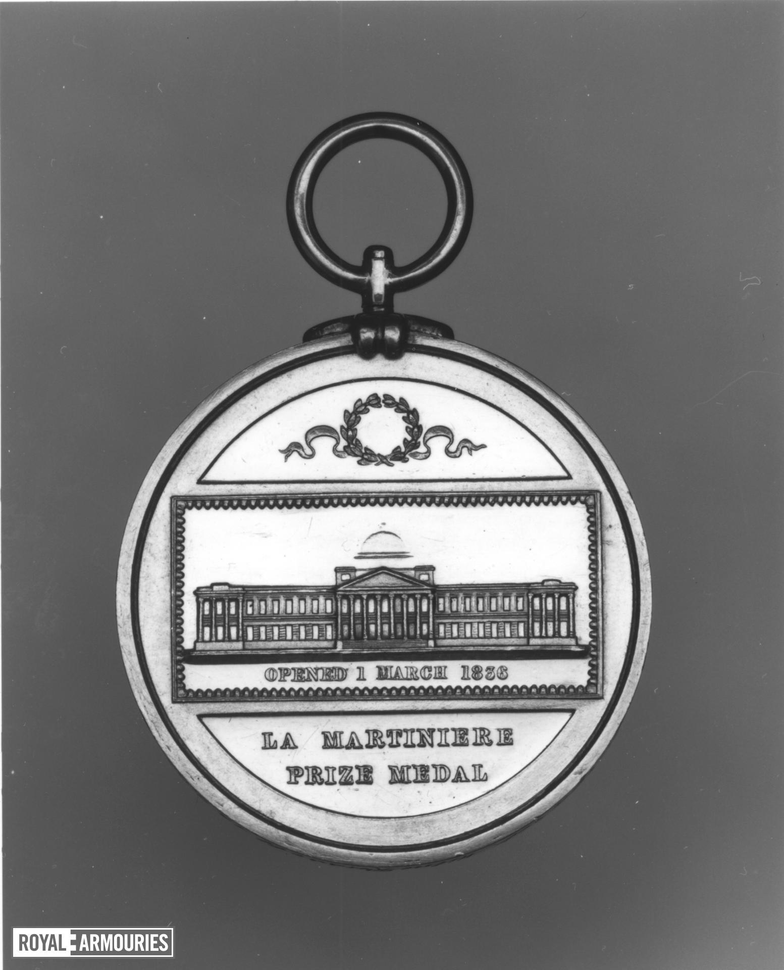 Prize medal - La Martiniere College