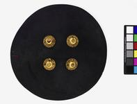 Thumbnail image of Pistol shield with gilded bosses.