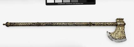 Thumbnail image of Axe (tabar) with sheet silver decoration