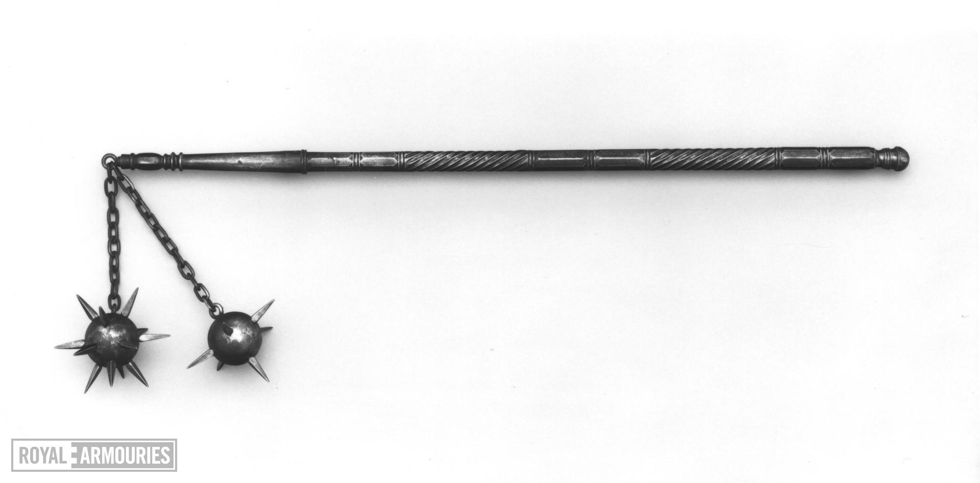 Flail with two spiked balls.