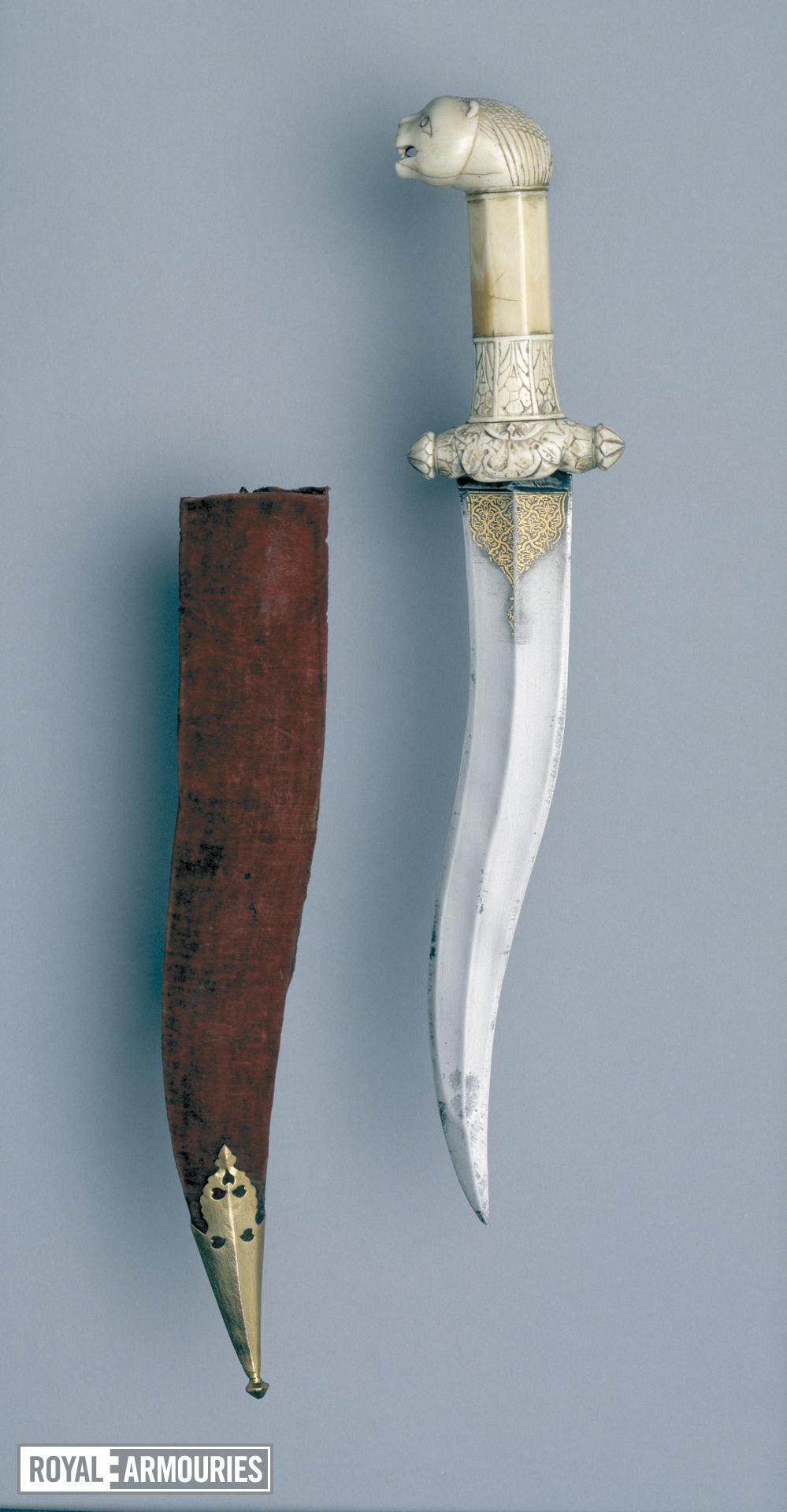 Dagger (khanjar) with an ivory hilt.