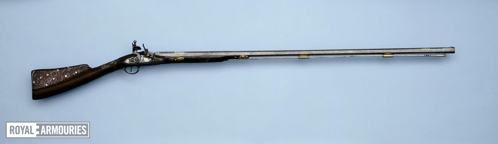 Flintlock Sporting Gun possibly mounted in Mysore for Tipu Sultan