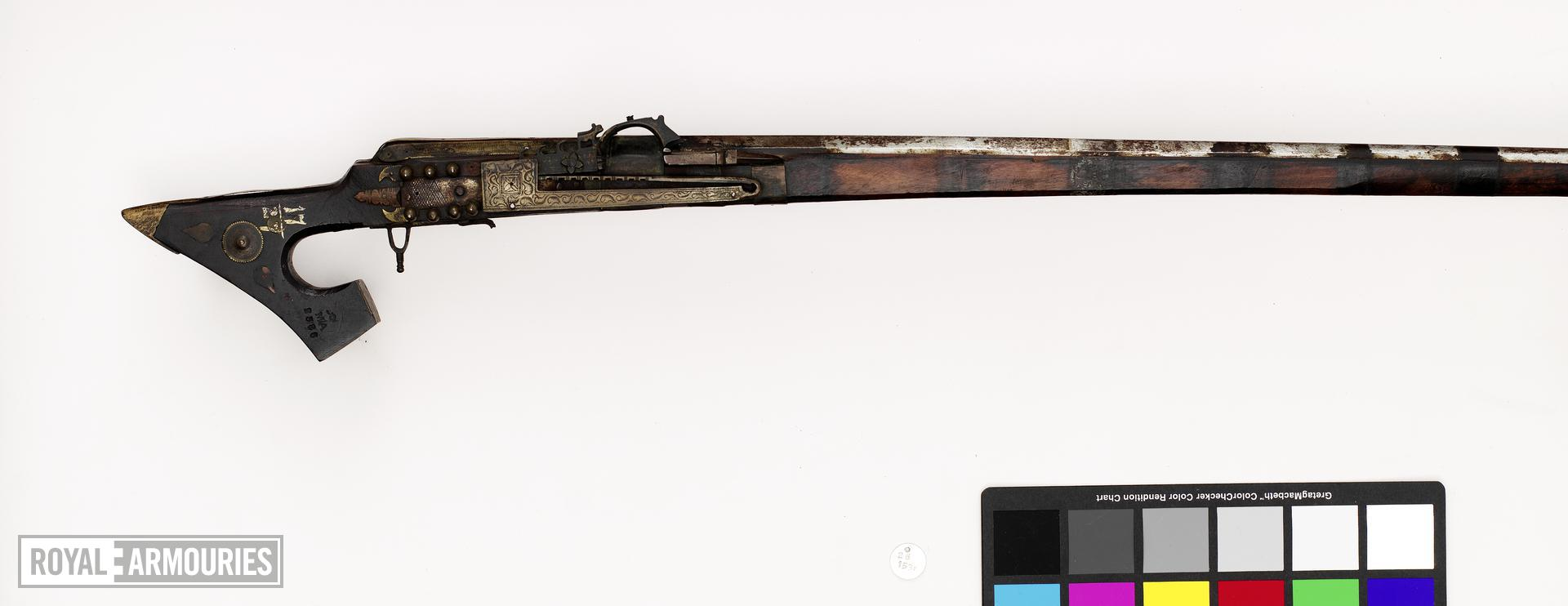 Matchlock musket with angled butt