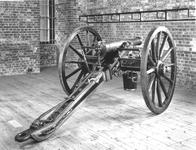 Thumbnail image of Gun - 6-pounder, Indian Field Gun, Limber and Carriage Plain barrel but very ornate carriage. Known as the Sutlej Gun
