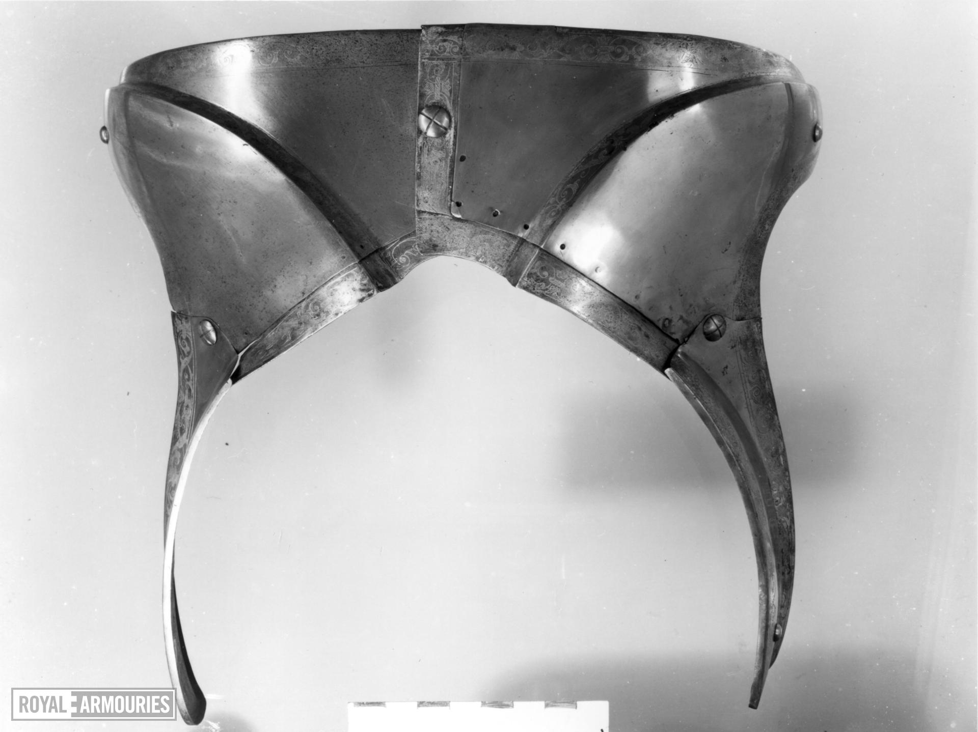 Saddle steel From a lost garniture of Henry VIII.