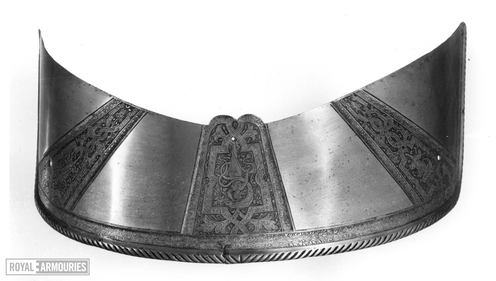 Saddle steel A pair to VI.116, and part of armour II.84 for Sir John Smythe.