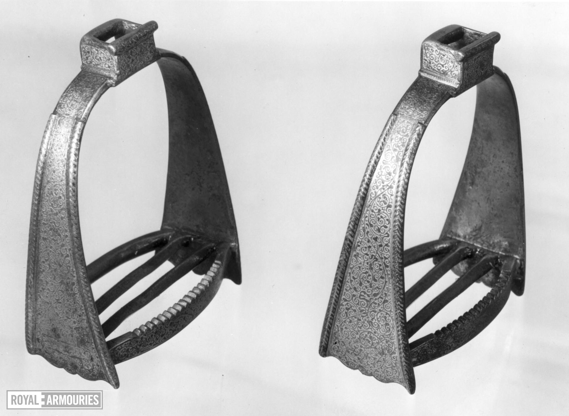 Stirrup Associated with armour II.90 for King Charles I when a boy.