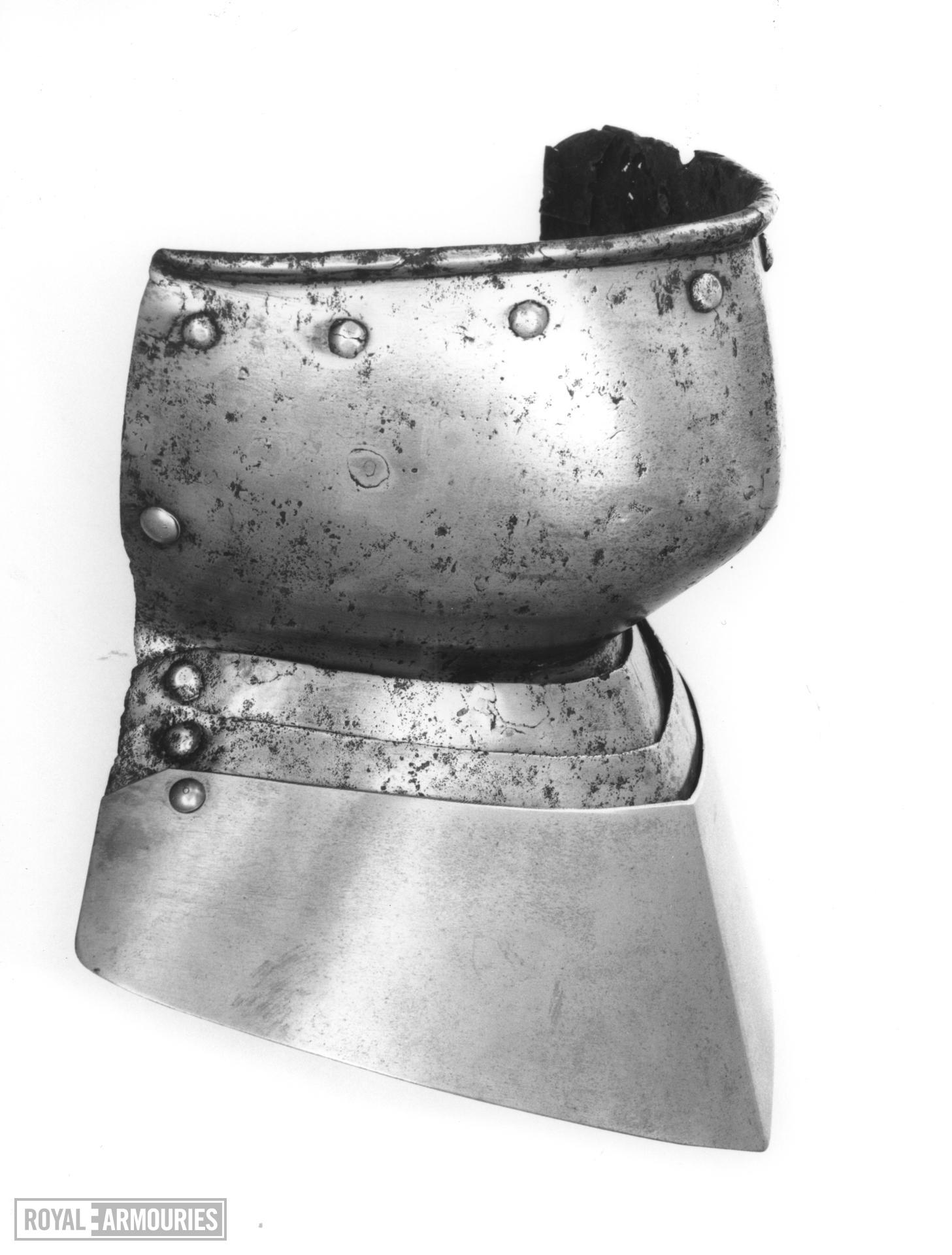 Bevor For use with a sallet or kettle hat