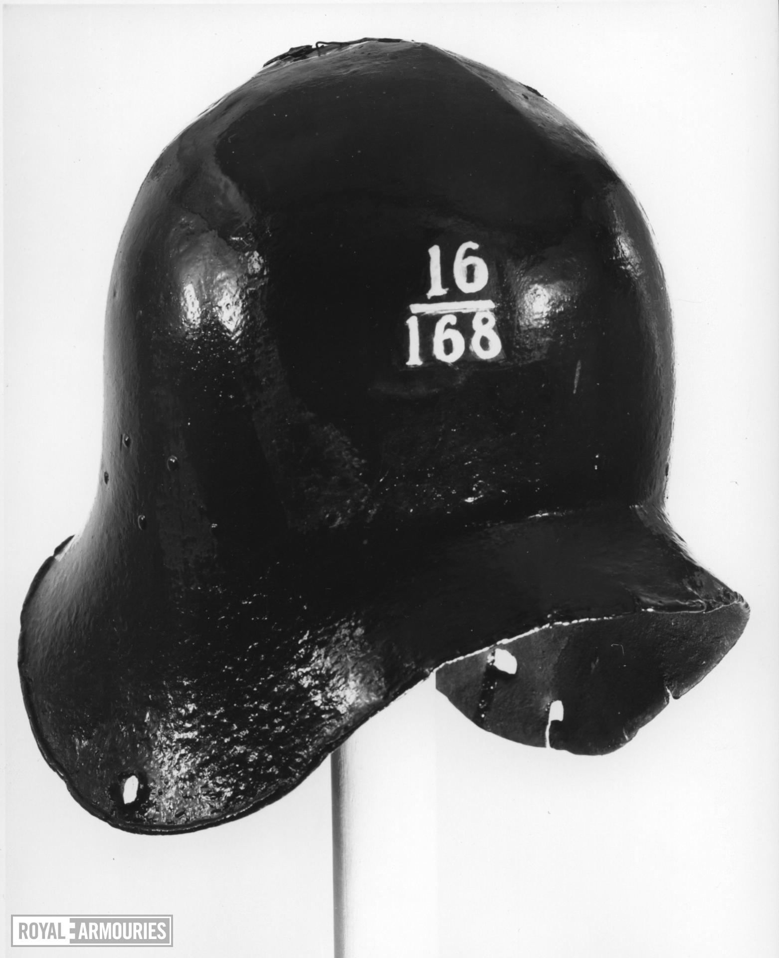 Sallet / Kettle hat Sallet / Kettle hat. For export to western Europe.