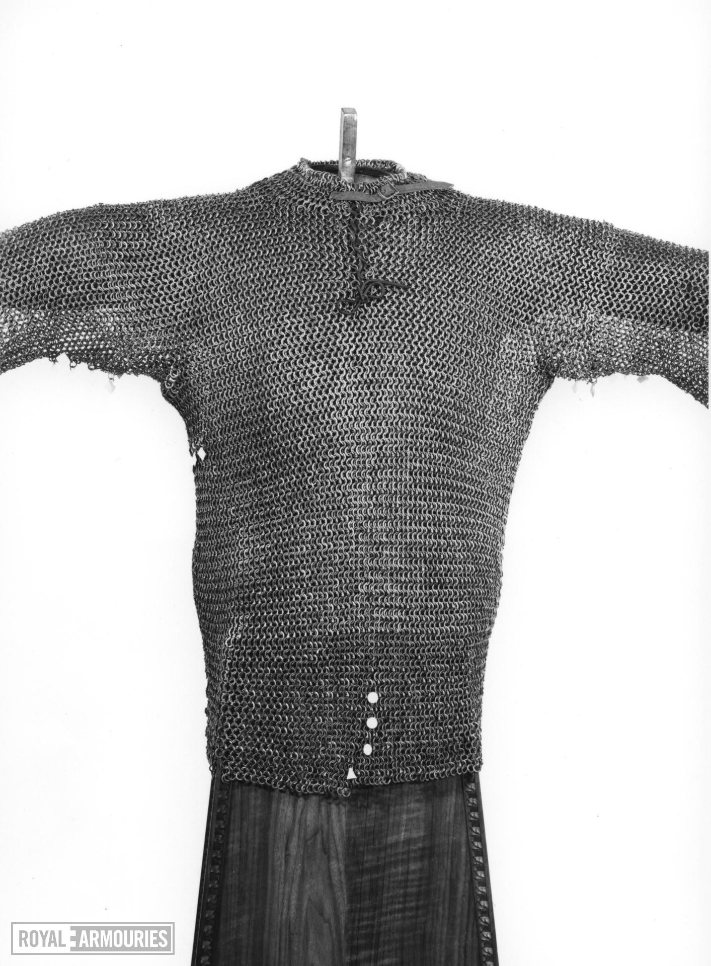 Mail shirt traditionally of Rudolph IV of Hapsburg, Duke of Austria, Carinthia and Ferrette (1339-1365). German, mid-14th century (III.1279)
