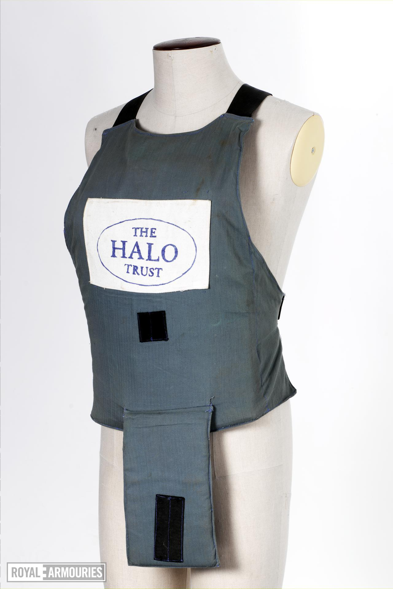 Apron body armour Of the type worn by Diana, Princess of Wales,  in Angola in January 1997