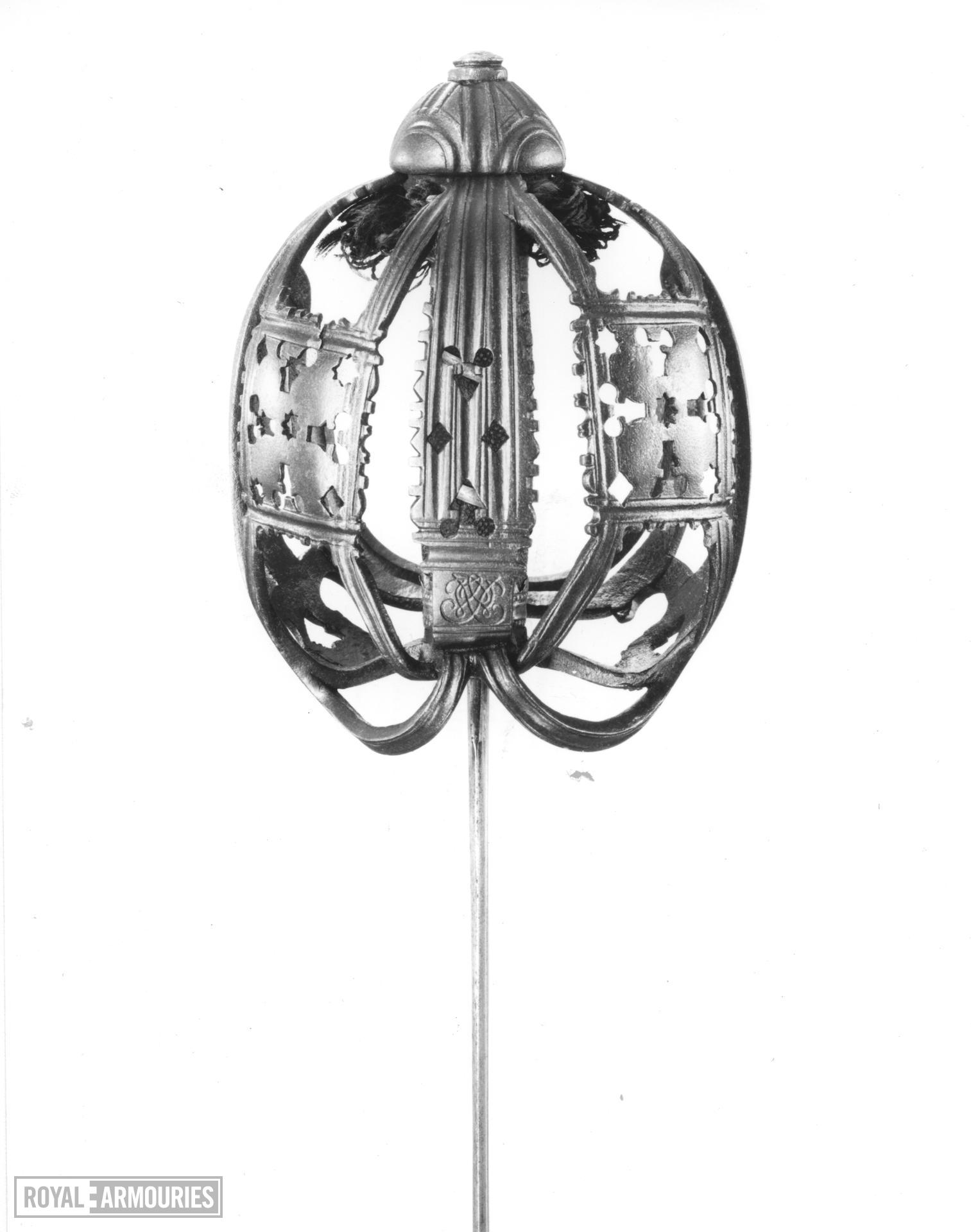 Basket hilted sword Hilt by John Simpson of Glasgow