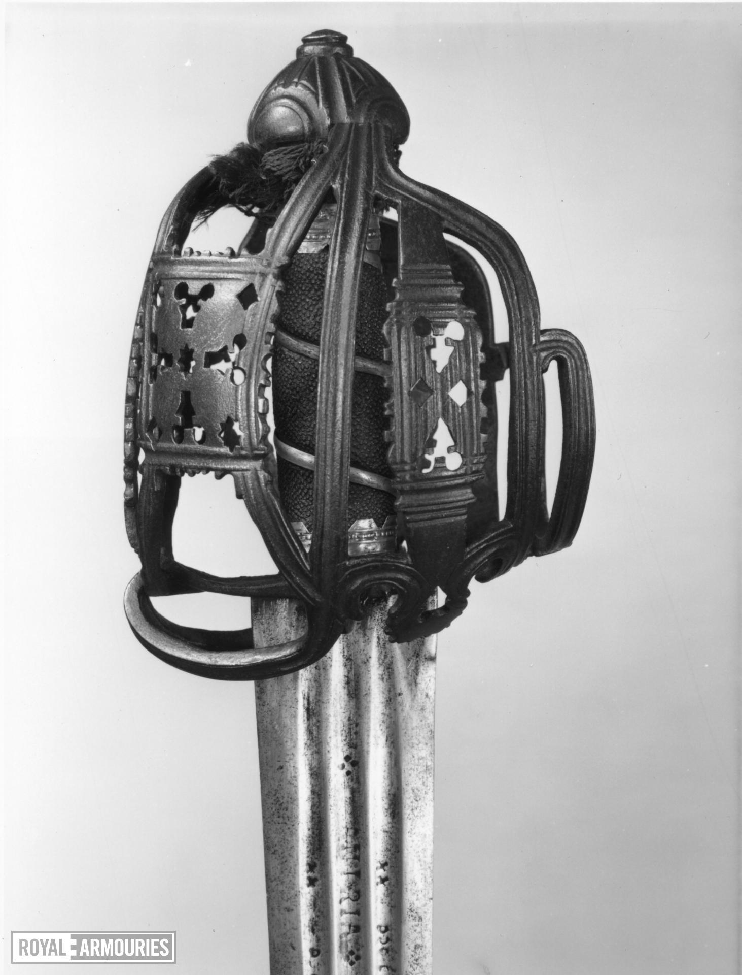 Basket hilted sword