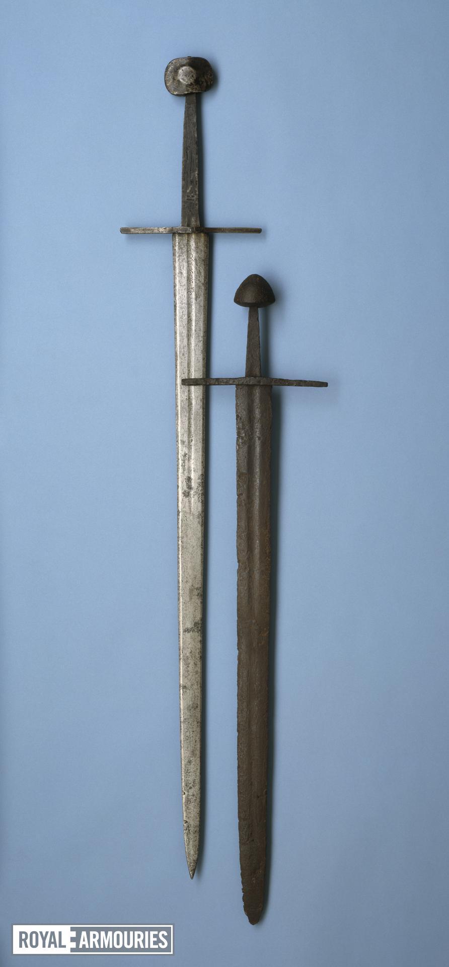 Sword Sword, Oakeshott (1964/1981) type XVIa; pommel type K