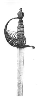 Thumbnail image of Sword and scabbard Cavalry officer's sword and scabbard, by Cullum.