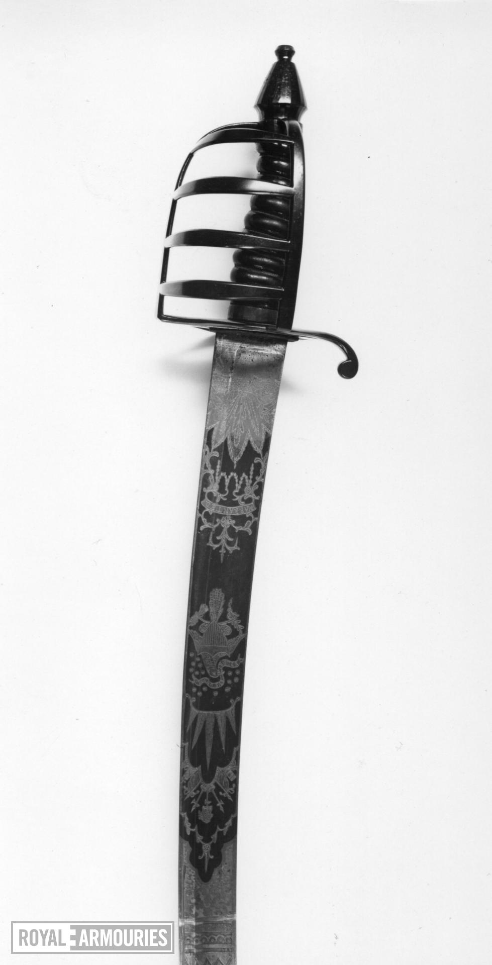 Sabre and scabbard Cavalry sabre and scabbard