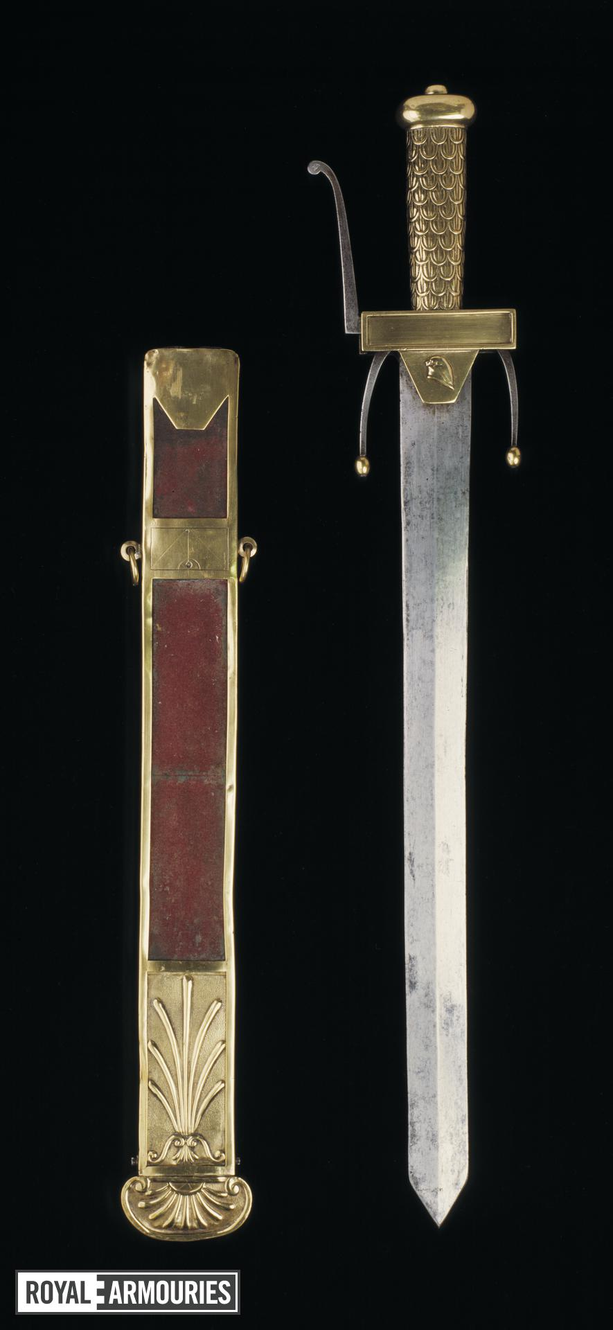 Sword and scabbard Sword of a Cadet of the ?cole de Mars.