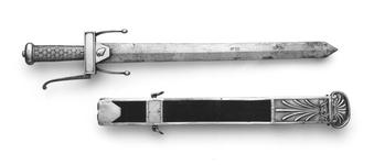 Thumbnail image of Sword and scabbard Sword of a Cadet of the ?cole de Mars.