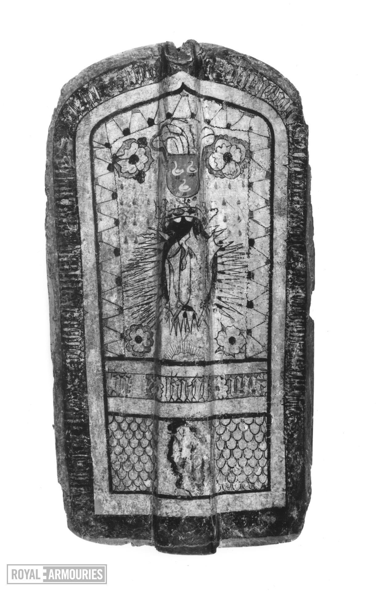 Pavise bearing the arms of Zwickau