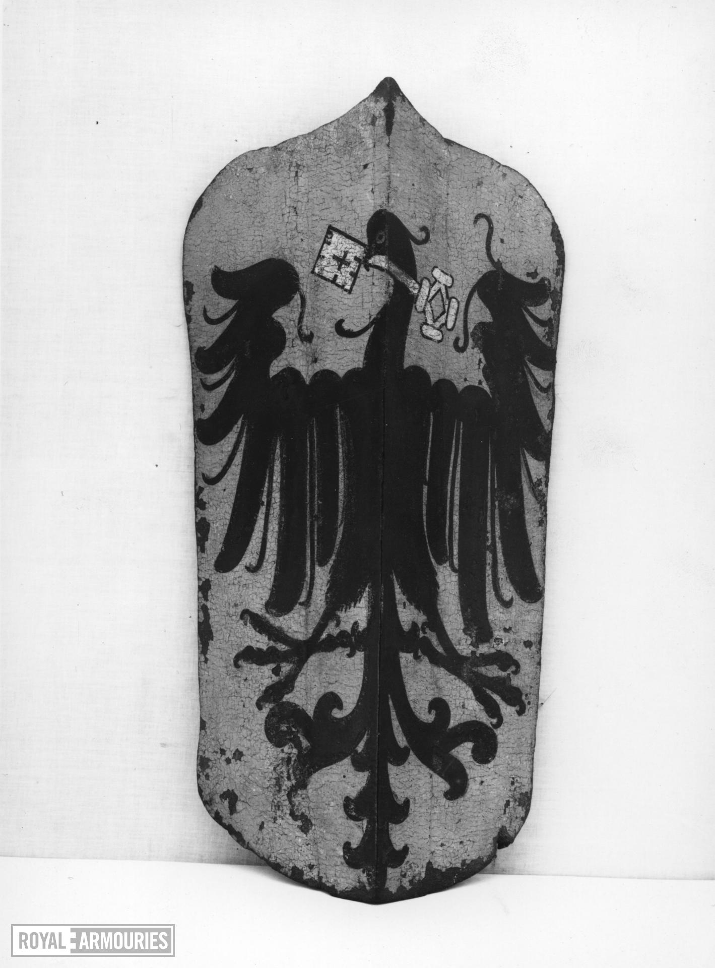 Pavise bearing the arms of Wimpfen