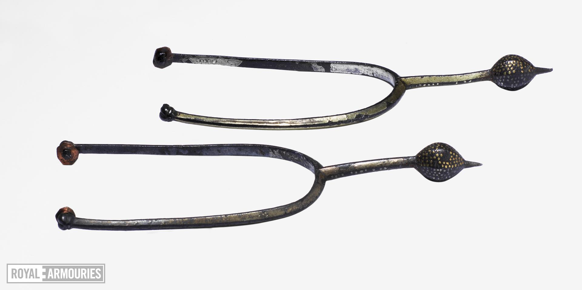 Pair of prick spurs. European, early 11th century (VI.373, VI.374)
