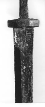 Thumbnail image of Dagger - Rondel Dagger with gothic inscription