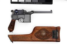 Thumbnail image of Centrefire self-loading pistol - Mauser C96 Centrefire self-loading pistol, Mauser C96, Germany, 1898.