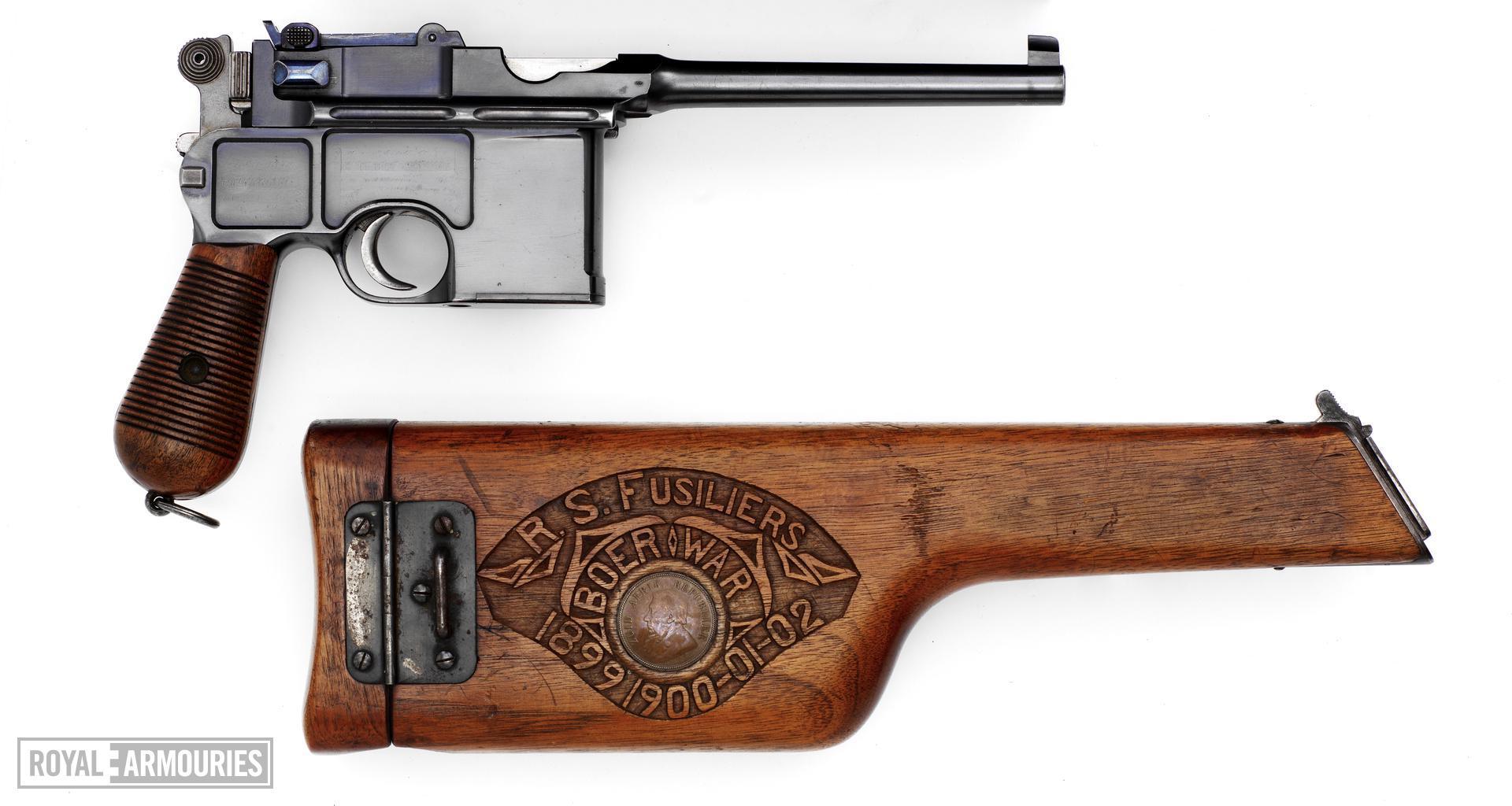 Centrefire self-loading pistol - Mauser C96 Centrefire self-loading pistol, Mauser C96, Germany, 1898.