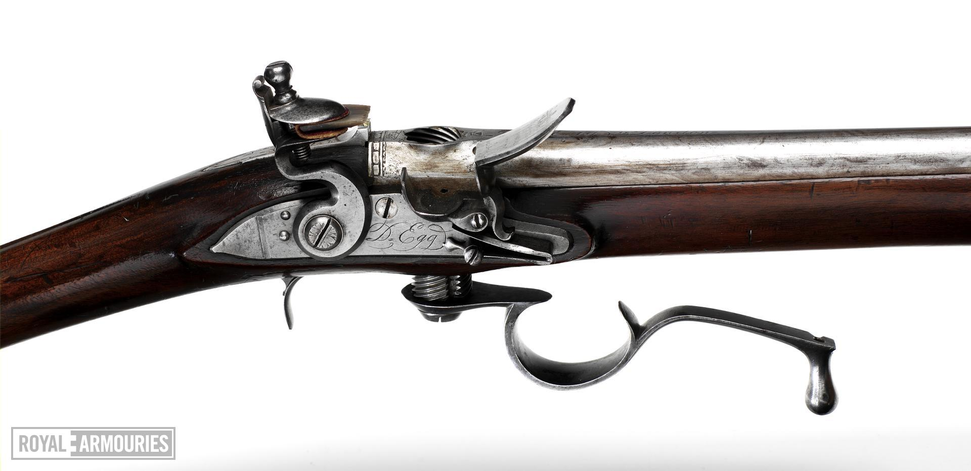 Flintlock breech-loading rifle - Ferguson type by Egg By Durs Egg