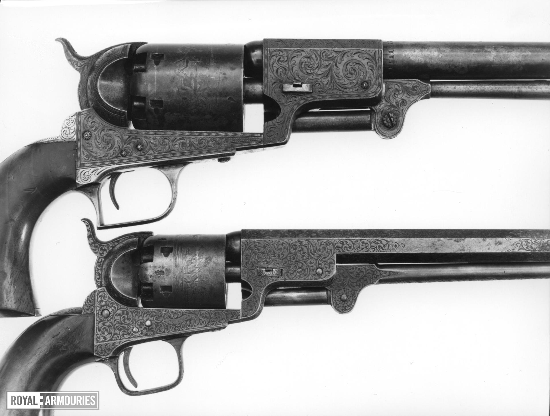 Percussion six-shot revolver - Colt Dragoon Model 1848, Second Series Retailed London