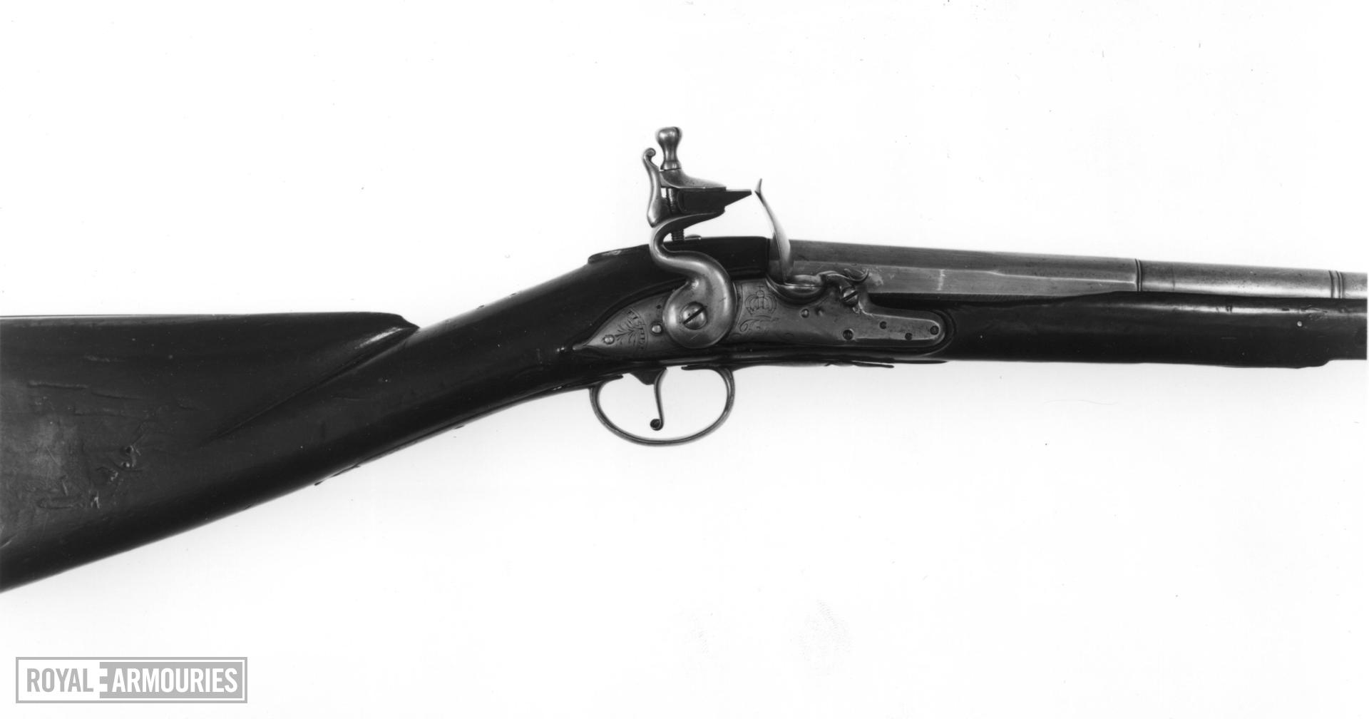 Flintlock muzzle-loading cavalry carbine - James II Carbine By George Fisher