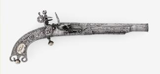Thumbnail image of Flintlock pistol By J. Murdoch One of a pair; with XII.1673