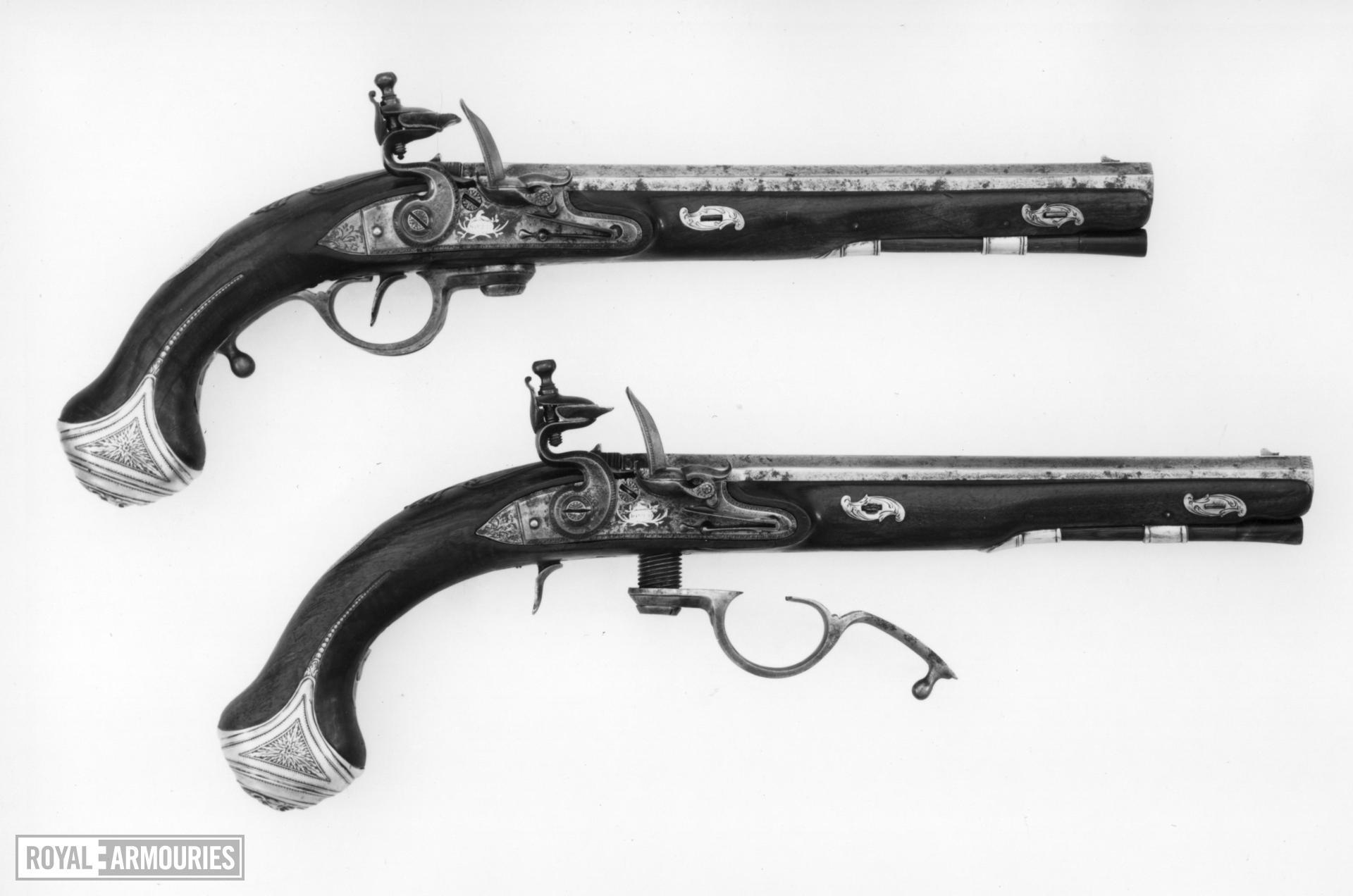 Flintlock breech-loading holster pistol